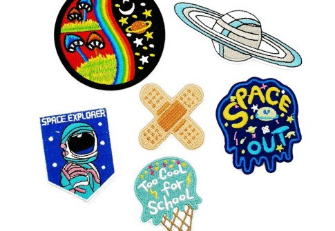Patches Embroidery Satellite Astronaut Space Planets Patches For Boys Clothes Coats