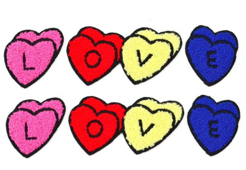 Patch Makers Lovely Baby Stick-On Embroidered Fabric Cheap Custom Flocking Patch For Clothes