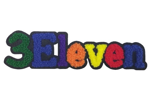 3Eleven custom chenille patch letter small applique patches felt towel chenille patches for kids