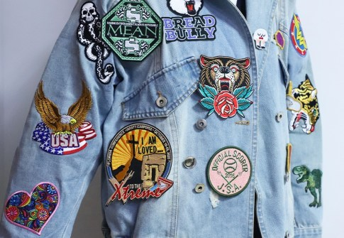 The Classic Jacket Applique Flat Embroidery Arm Patch For Clothes