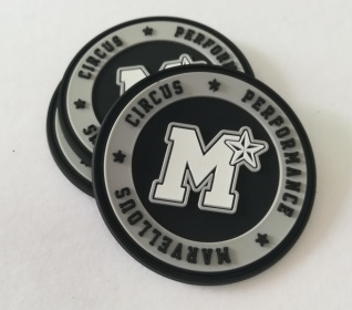 3D logo custom Rubber Patch Labels shape embossed Labels for Clothing soft silicone label 3D Logo rubber label
