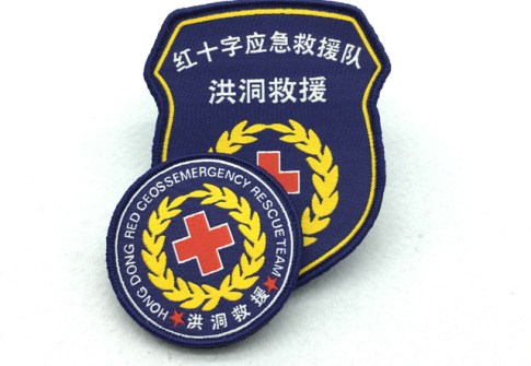 custom woven clothing patch embroidery patch for hat