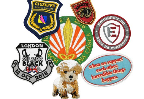 custom applique embroidery badge sew iron on patch