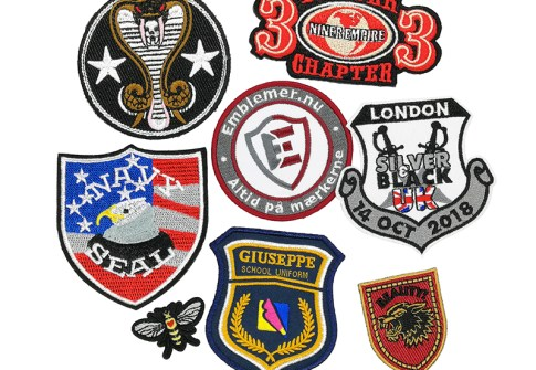 embroidery blank patches women custom designer brand clothing patches