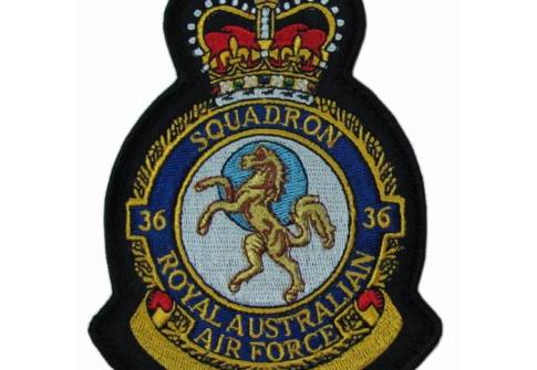 No.36 Squadron Royal Air Force Embroidered Crest Badge Patch Official Crest