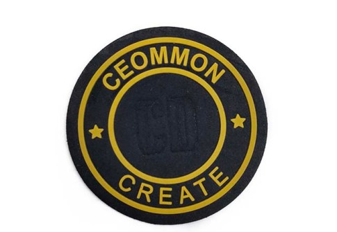 3D Rubber Patch Custom Embossed PVC logo patch Sew-on Patch for Clothing Accessory