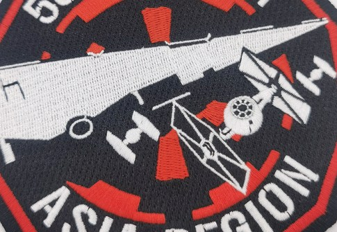 Polygon pattern Patches Cloth Embroidery Applique Patch use for Clothes Bags Shoes
