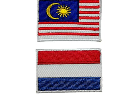 Premium Custom Embroidered Badge National Flag Hat Patch for Military