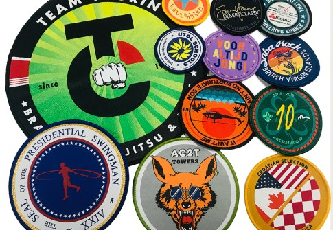 Custom Heat Press Woven Patches Iron On Patch Applique For Garment