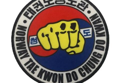 Heat Transfer Printed Merrow Border Custom brand logo Garment Dye Sublimation Patches