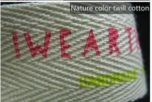 Nature color twill cotton