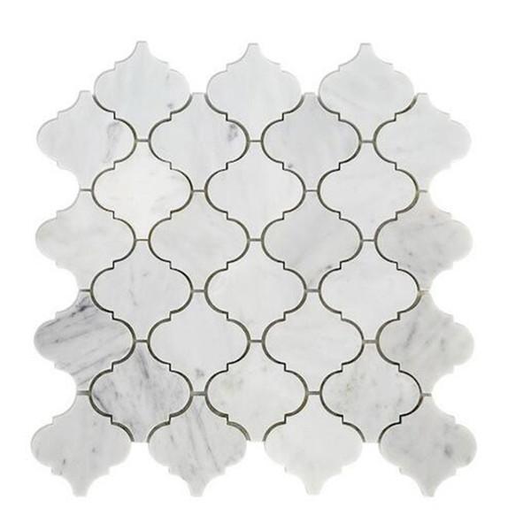 italie marbre blanc arabesque carreaux
