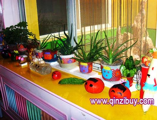 kitchen science island bar stools 区角环境:植物角—幼儿园环境布置图片