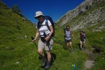 Dernières pelouses fleuries – Jour 5 – Tour du Marguareis – Juin 2016 – Trek, Rando, Italie