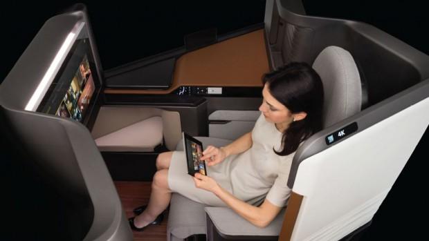 Panasonic waterfront plane seat