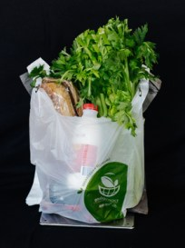 Biodegradable and degradable lightweight plastic shopping bags