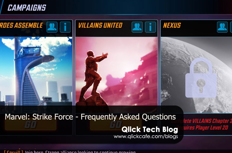 Marvel Strike Force – Frequently Asked Questions