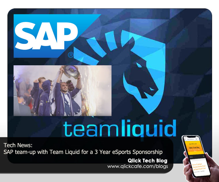 SAP Team-up with Team Liquid with a 3 Year eSports Sponsorship
