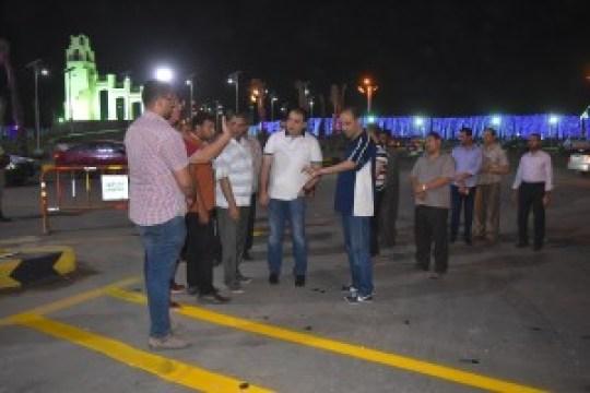 المحافظ يطمئن علي استعدادات  الاحتفال بثورة 30 يونيو بالفيوم