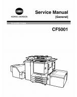 Konica-Minolta MINOLTA CF5001 FIELD-SERVICE Service Manual