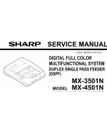 SHARP MX 3500 3501 4500 4501 N Service Manual