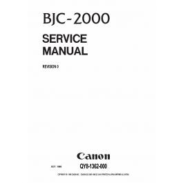 Canon BubbleJet BJC-2000 Service Manual