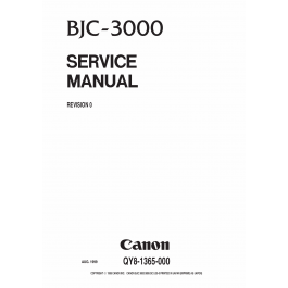 Canon BubbleJet BJC-3000 Service Manual