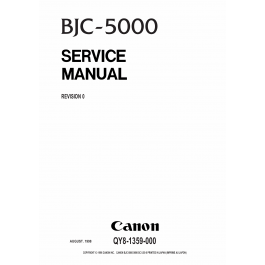 Canon BubbleJet BJC-5000 Service Manual