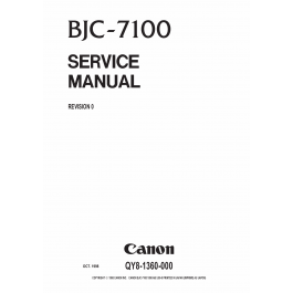 Canon BubbleJet BJC-7100 Service Manual