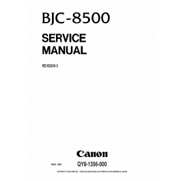 Canon BubbleJet BJC-8500 Service Manual