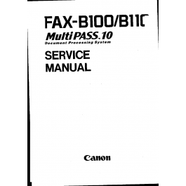 Canon FAX FP-B100 MultiPass-10 Parts and Service Manual