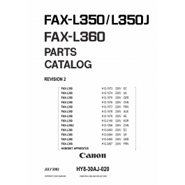 Canon FAX L350 L350J L360 Parts Manual