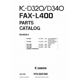 Canon FAX L400 Parts Catalog Manual