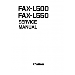 Canon FAX L500 L550 Parts and Service Manual