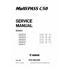 Canon FAX MultiPass-C50 Parts and Service Manual