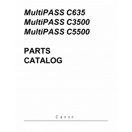 Canon MultiPASS MP-C635 C3500 C5500 Parts Catalog Manual