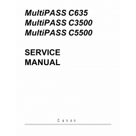 Canon MultiPASS MP-C635 C3500 C5500 Service Manual