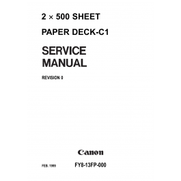 Canon Options Sheet2x500 Paper-Deck C1 Parts and Service