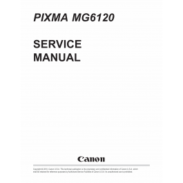 Canon PIXMA MG6120 Service Manual