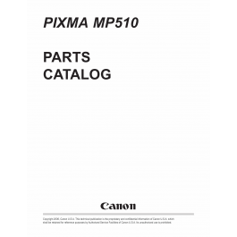 Canon PIXMA MP510 Parts Catalog Manual