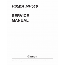 Canon PIXMA MP510 Service Manual