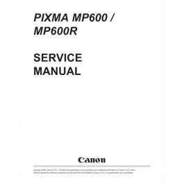 Canon PIXMA MP600 MP600R Service Manual