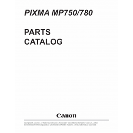 Canon PIXMA MP750 MP780 Part Catalog