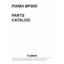 Canon PIXMA MP800 Parts Catalog Manual