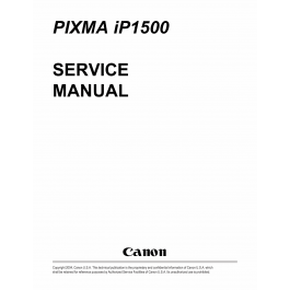 Canon PIXMA iP1500 Service Manual