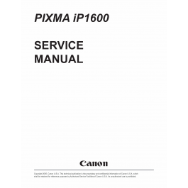 Canon PIXMA iP1600 Service Manual