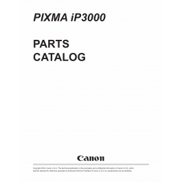 Canon PIXMA iP3000 Parts Catalog