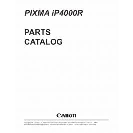Canon PIXMA iP4000R Parts Catalog