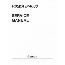 Canon PIXMA iP4000 Service Manual