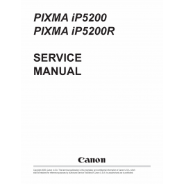 Canon PIXMA iP5200 iP5200R Service Manual